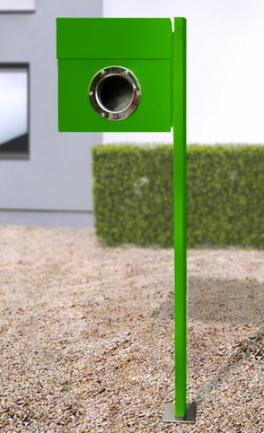 letterman 1 med stativ grön